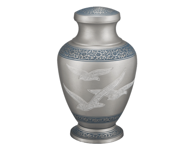 Georgia Cremation Silver with Doves Urn
