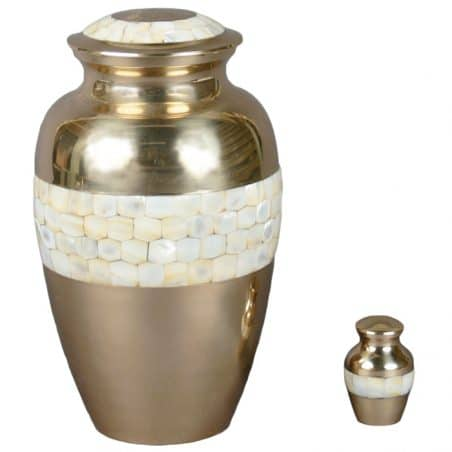 Georgia Cremation Urn Mother of Pearl