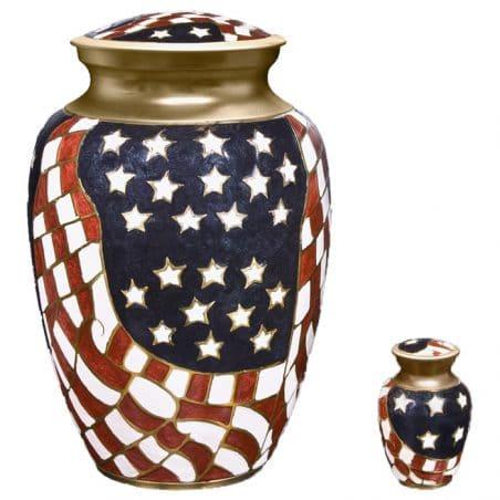 Georgia Cremation Urn Old Glory