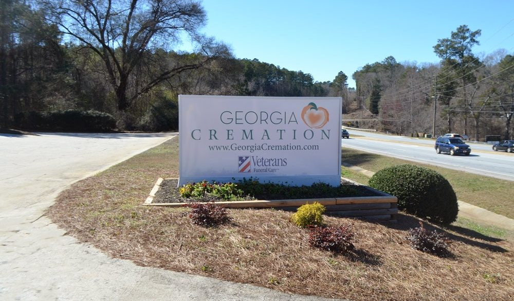 Outdoor sign for Georgia Cremation in Fayetteville, GA